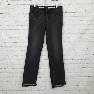 Anthropologie Skinny Jeans Black Step Hem 27